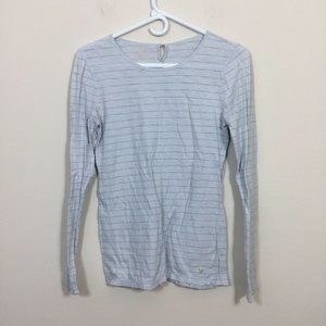 American Eagle Size L Blue Pinstriped Shirt